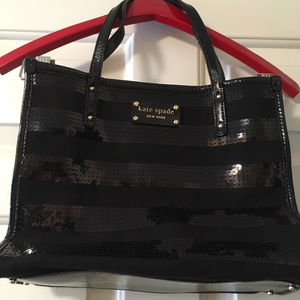 Black and sequin Kate Spade bag - GREAT CONSITION